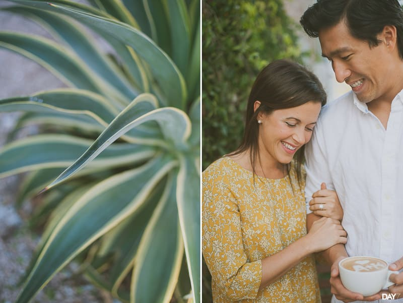 Catalina coffee engagement session
