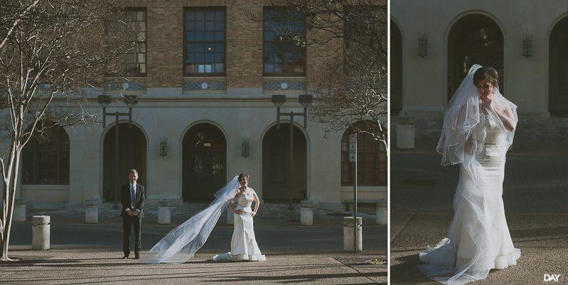 university of texas campus wedding photos