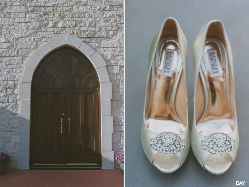 Houston Wedding Photographery - Badgley Mischka shoes