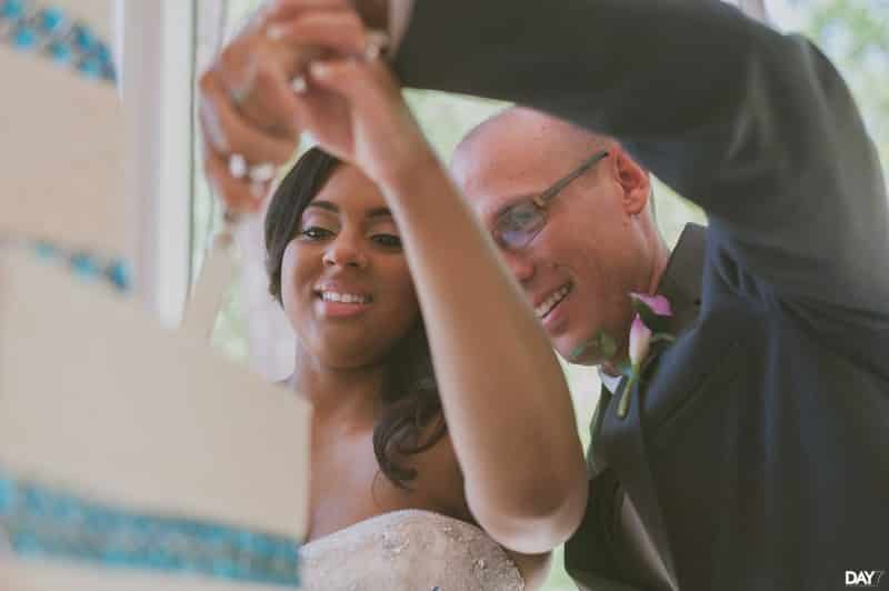 Houston Wedding Photographer cake cutting