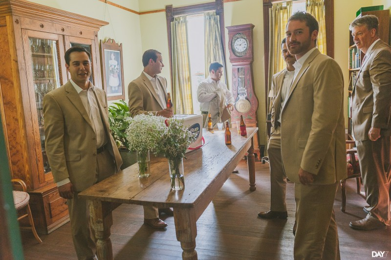 Groomsmen Getting Ready at Barr Mansion