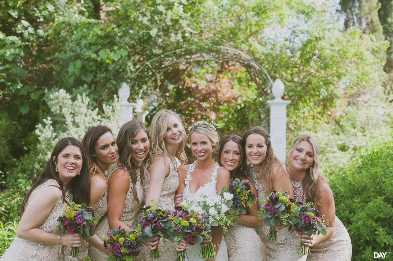 Stems Floral Design and Bridesmaids at Barr Mansion