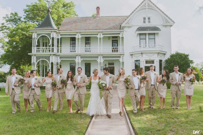 Wedding Party at Barr Mansion