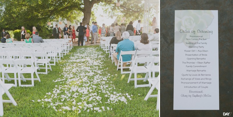 Ceremony at Barr Mansion