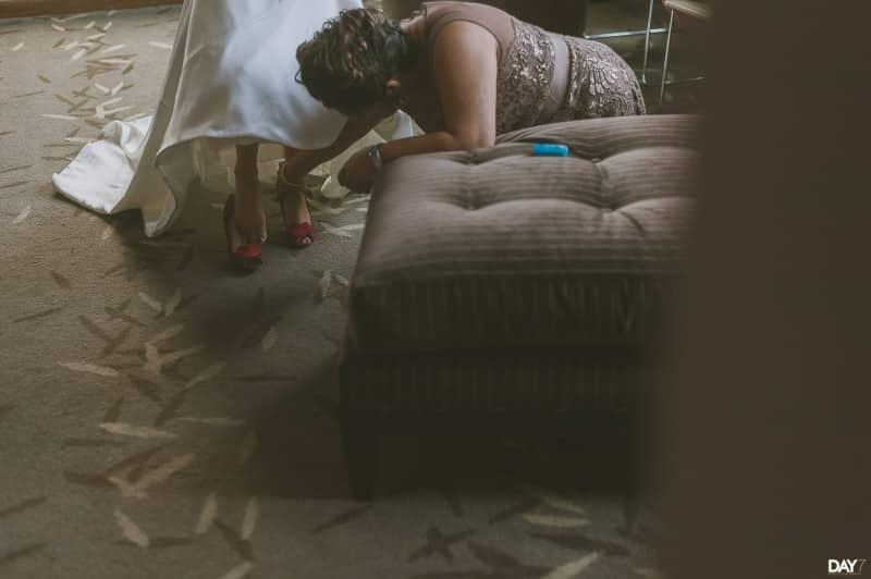 Bride Getting Ready at Magnolia Hotel