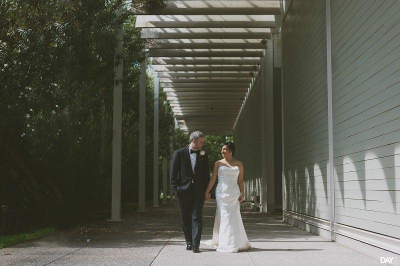 Wedding Portraits at Menil Collection Houston