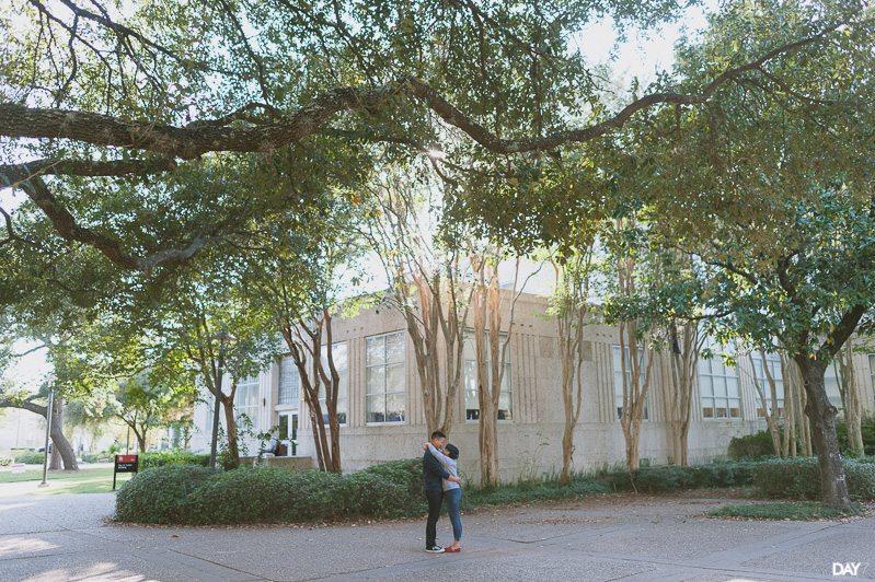 University Of Houston Engagement Photos