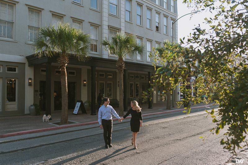 Downtown Galveston Engagement Session