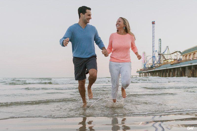 Galveston Beach Engagement Session