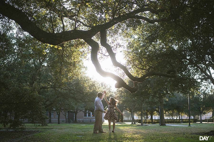 Rice University Engagement Photos