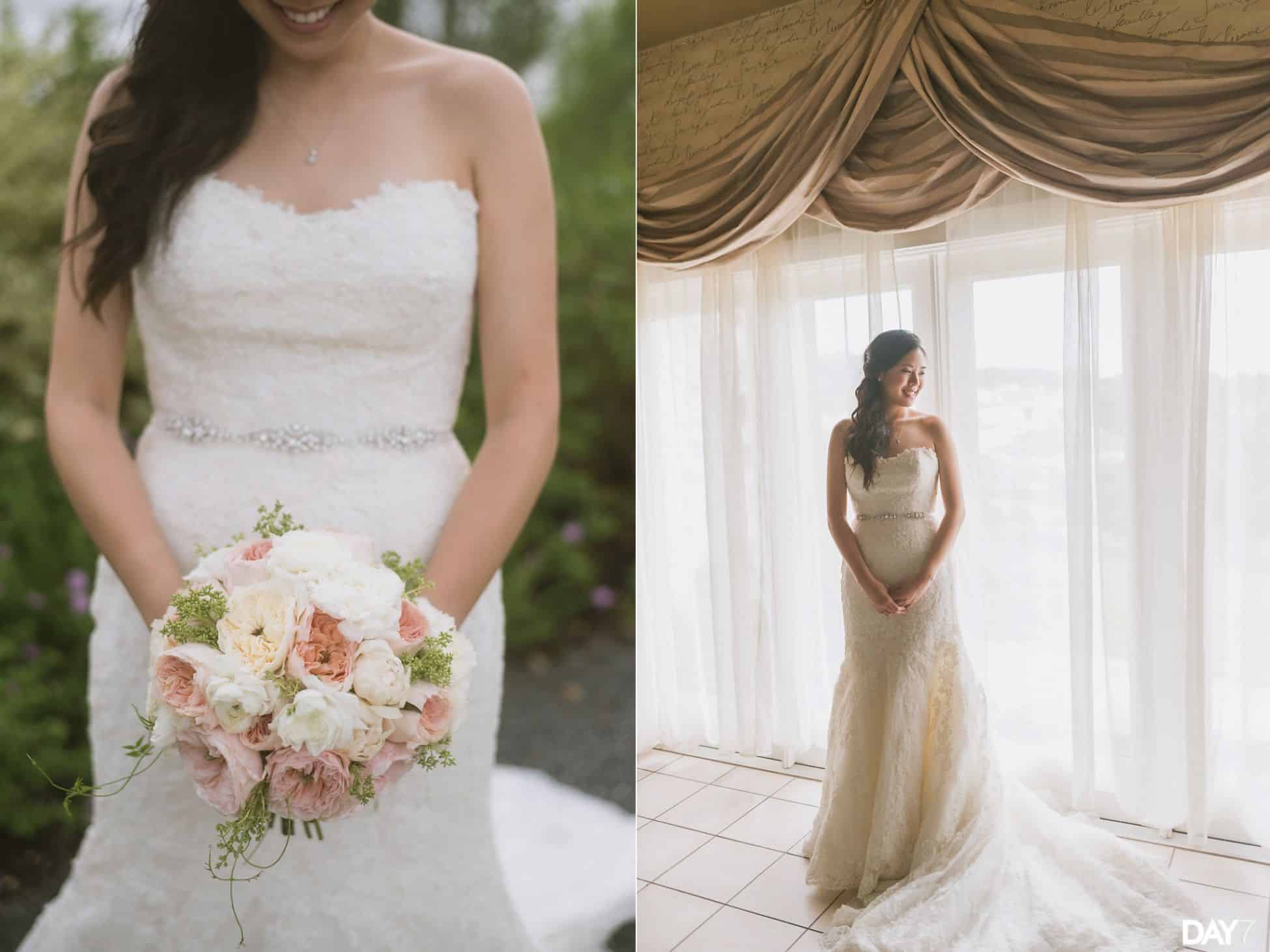 bridal portraits at Vintage Villas Austin Wedding