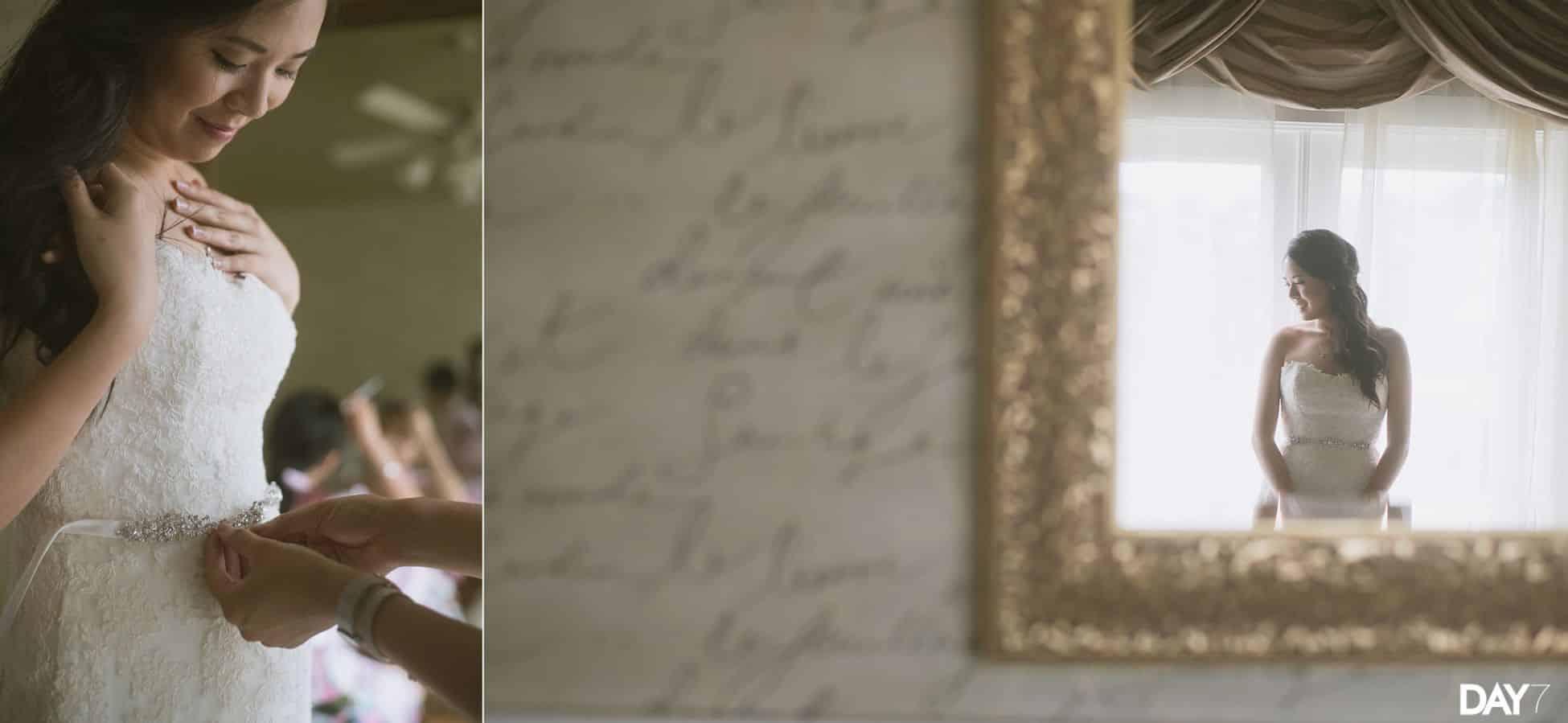 bridal portraits at Vintage Villas