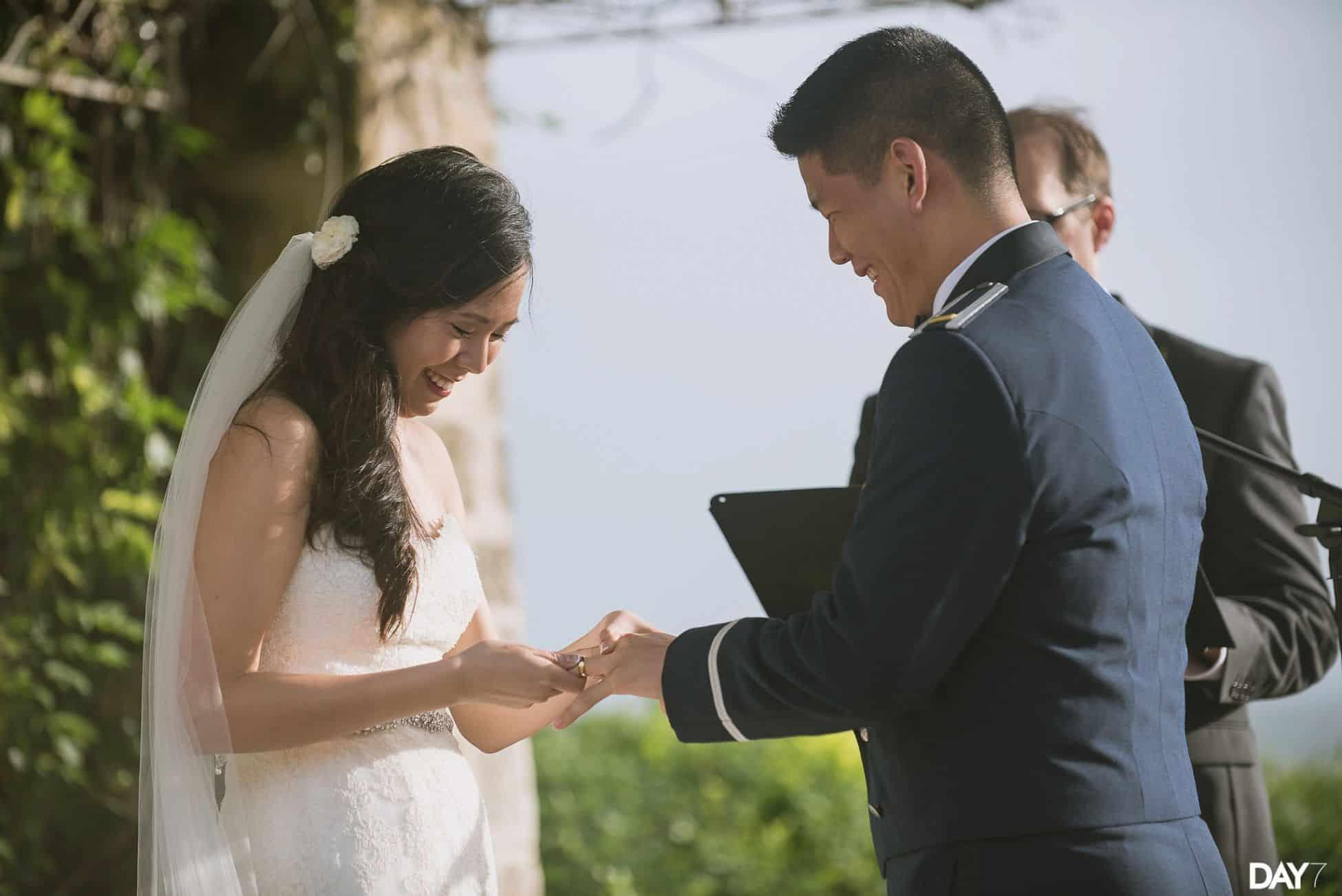 ceremony at vintage villas wedding venue