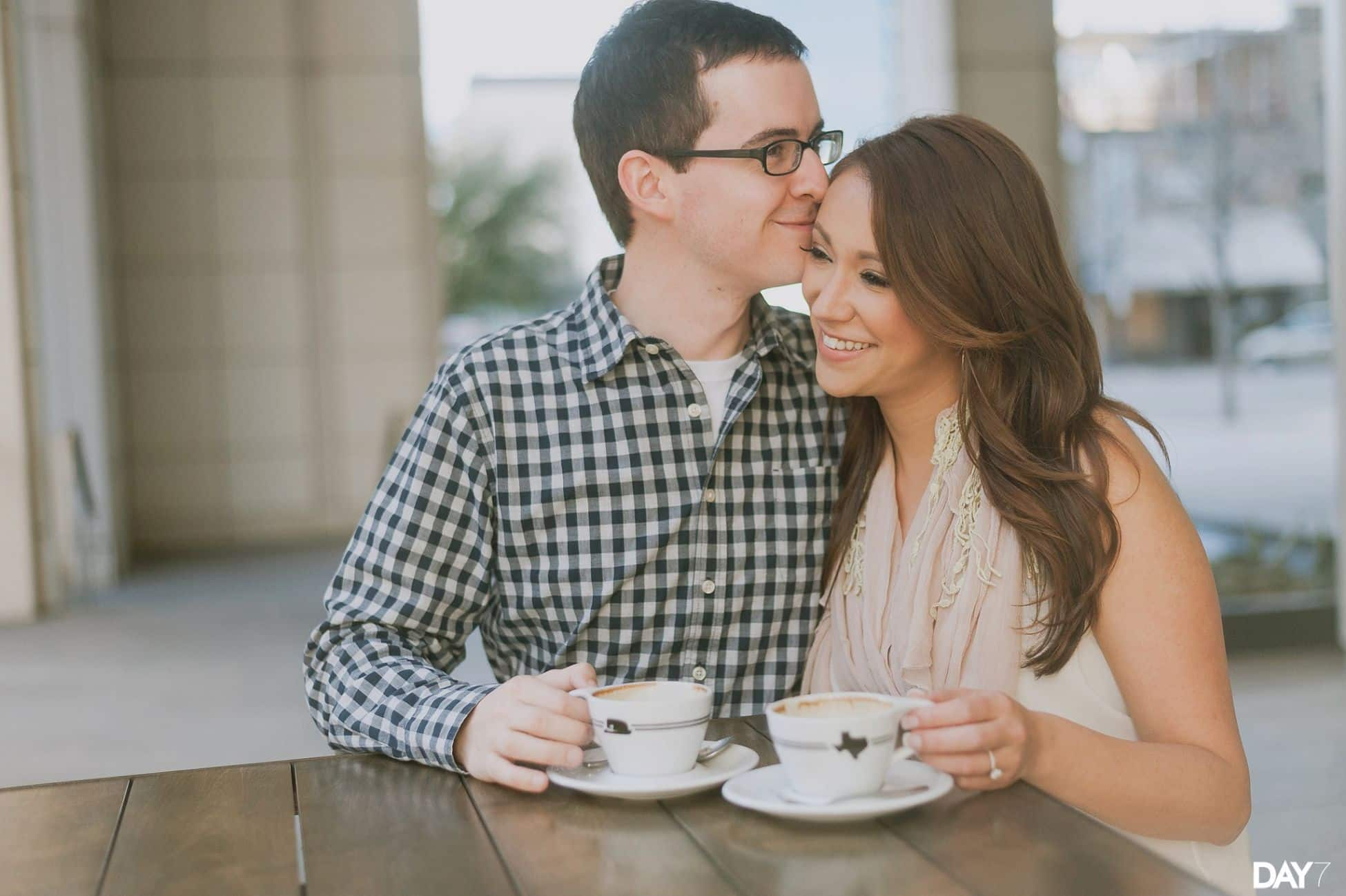 Houndstooth Coffee Downtown Engagement