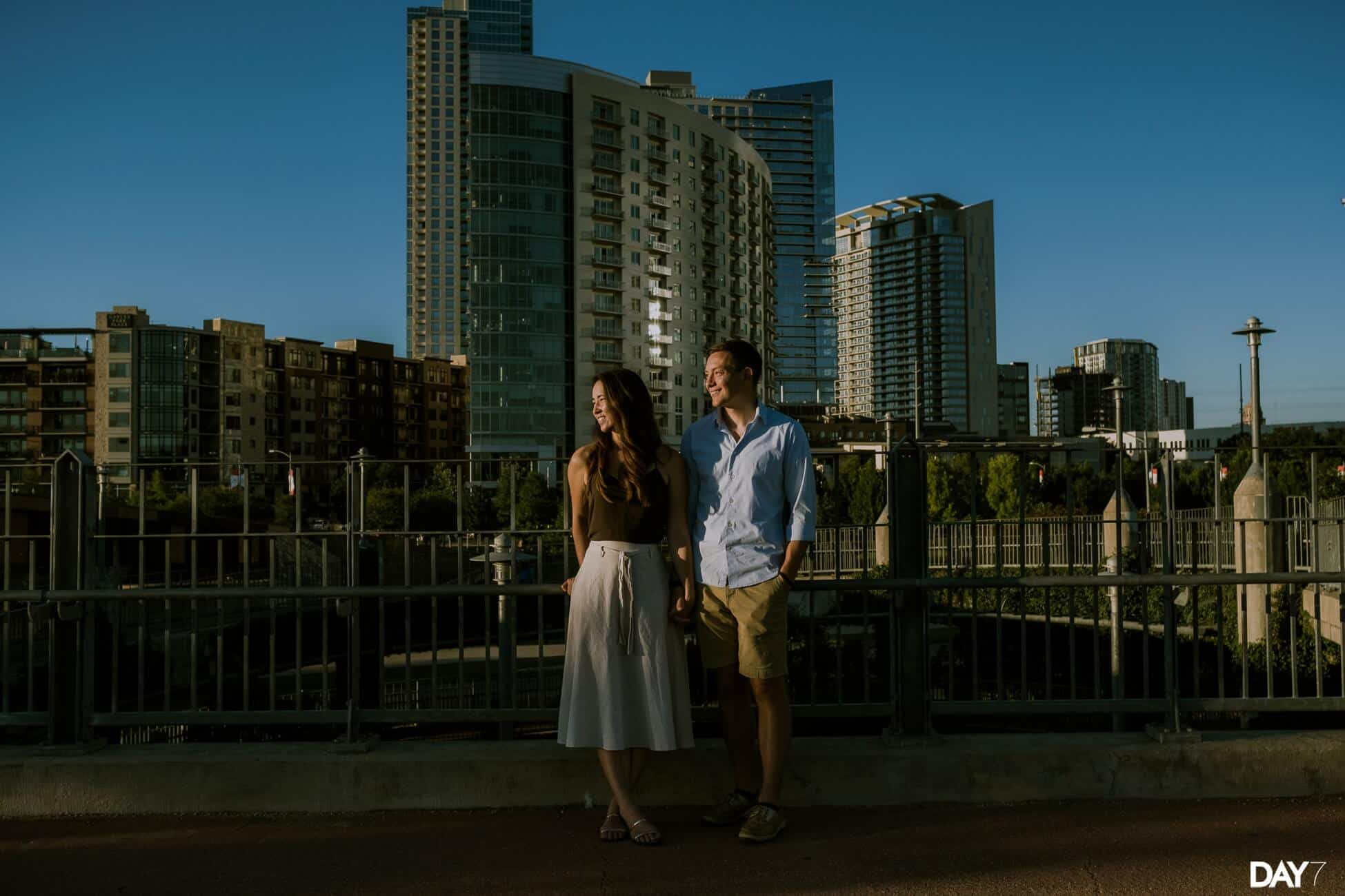 Seaholm Powerplant Engagement Photography