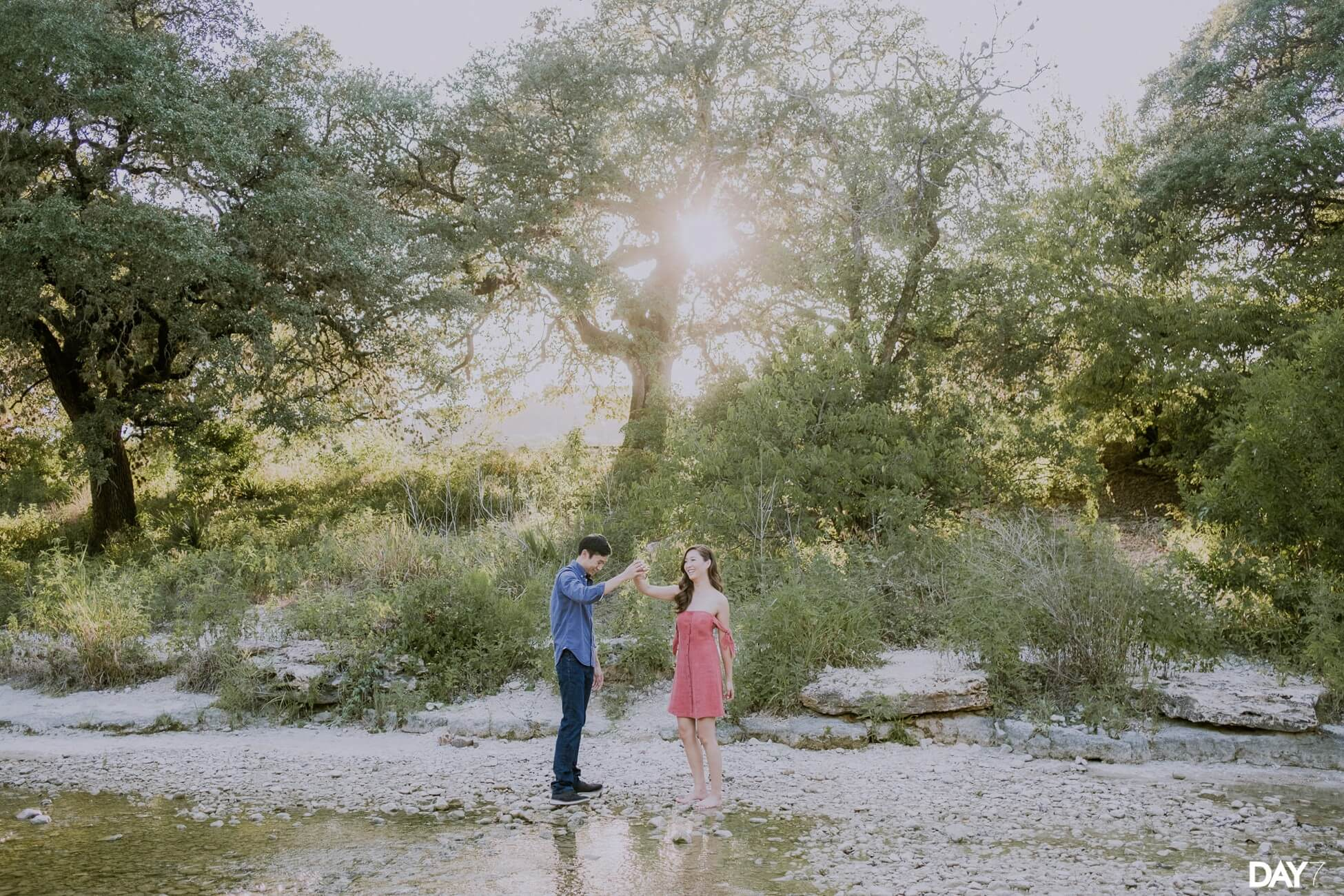 Bull Creek Engagement Photos