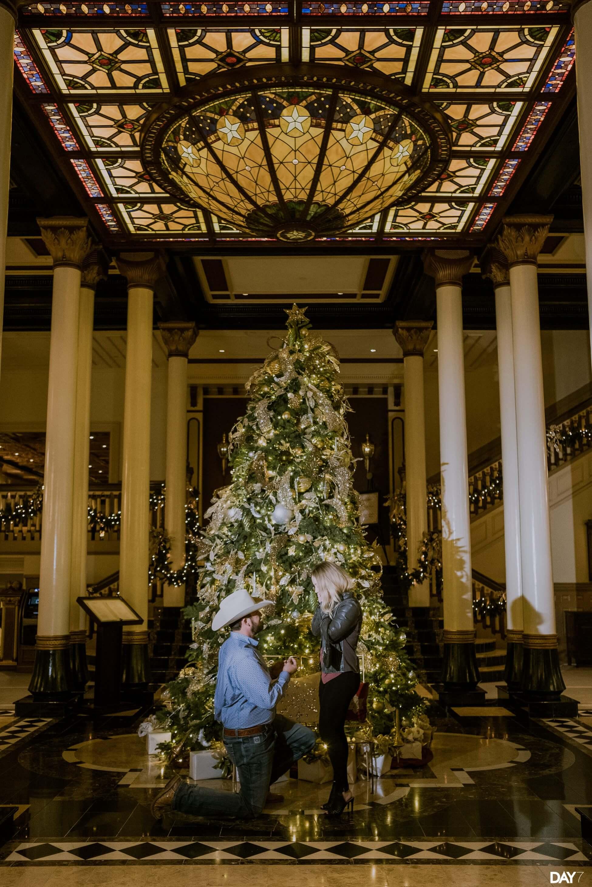Driskill Hotel Proposal Photographer